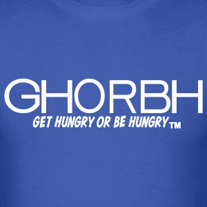 Blue and White GHORBH Design T-Shirt - Men's T-Shirt