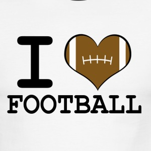 Men's I Love Football Ringer Tee - Men's Ringer T-Shirt
