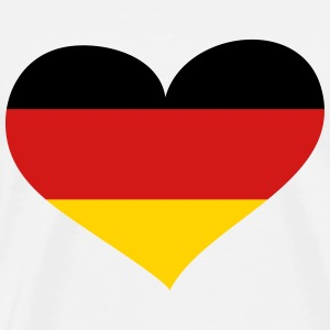 Germany Heart; Love Germany T-Shirts - Men's Premium T-Shirt