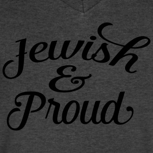 jewish and proud T-Shirts - Men's V-Neck T-Shirt by Canvas