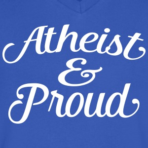 atheist and proud T-Shirts - Men's V-Neck T-Shirt by Canvas