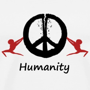 Humanity tearing peace apart - Men's Premium T-Shirt