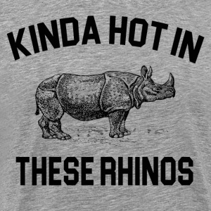 Ace Ventura - Kinda Hot In These Rhinos T-Shirts - Men's Premium T-Shirt