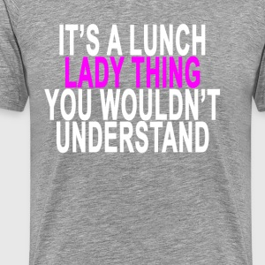 lunch_lady_thing_light_tshirt_ - Men's Premium T-Shirt