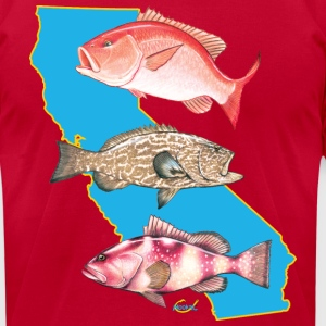 California Snapper Grouper T-Shirts - Men's T-Shirt by American Apparel
