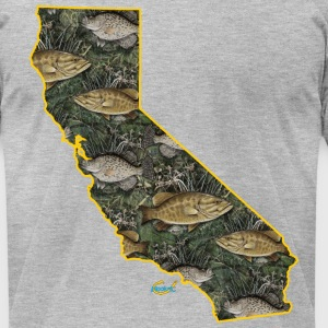 California Bass Camo Hook T-Shirts - Men's T-Shirt by American Apparel