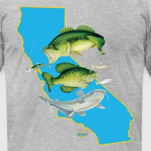 California  Bass Crapppie Cat Hookat.png T-Shirts - Men's T-Shirt by American Apparel