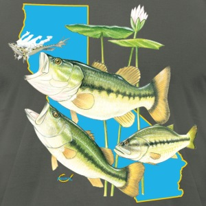 California Bass Hookat T-Shirts - Men's T-Shirt by American Apparel