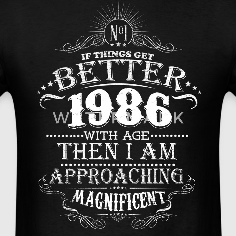 Vintage Born in 1986 30 Years Old Birthday T-Shirts - Men's T-Shirt