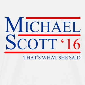 Michael Scott 2016 - Men's Premium T-Shirt