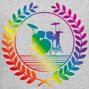 drummer rainbow Long Sleeve Shirts - Crewneck Sweatshirt