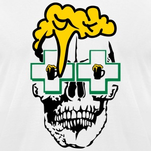 skull beer foam pharmacy 1 T-Shirts - Men's T-Shirt by American Apparel