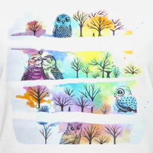Owls and Trees - Women's T-Shirt