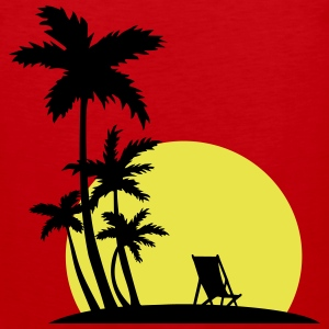 Paradise - Sunset and palm trees Sportswear - Men's Premium Tank