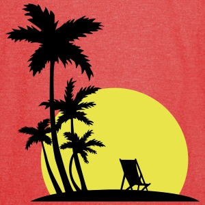 Paradise - Sunset and palm trees T-Shirts - Vintage Sport T-Shirt