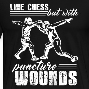 Fencing Is Like Chess - Men's Premium T-Shirt