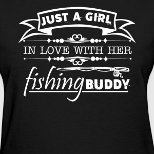 Girl In Love With Her Fishing Buddy - Women's T-Shirt