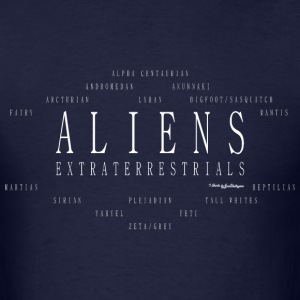 Aliens Extraterrestrials T Shirts - White T-Shirts - Men's T-Shirt
