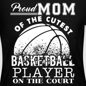 Proud Mom Of Cute Basketball Player - Women's Long Sleeve Jersey T-Shirt