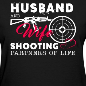Husband And Wife Shooting Partners Of Life - Women's T-Shirt