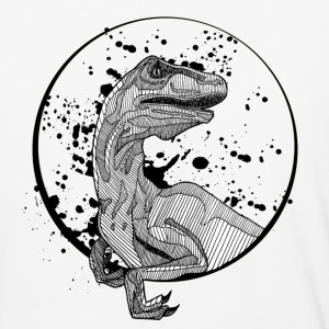 Mens' Baseball Shirt: Velociraptor - Baseball T-Shirt