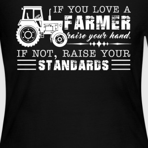 If You Love A Farmer Tee - Women's Long Sleeve Jersey T-Shirt