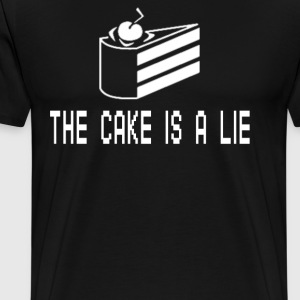 The Cake Is A Lie T-Shirts - Men's Premium T-Shirt