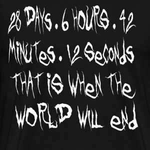 Donnie Darko - That Is When The World Will End T-Shirts - Men's Premium T-Shirt