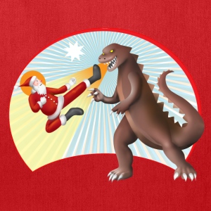 Santa Claus VS Dinosaur Bags & backpacks - Tote Bag