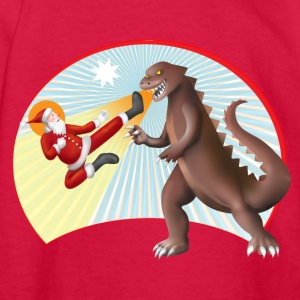 Santa Claus VS Dinosaur Kids' Shirts - Kids' Long Sleeve T-Shirt