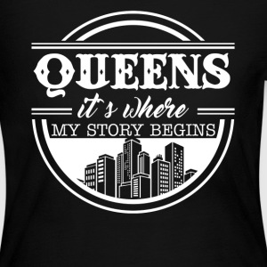 Queens It's Where My Story Begins - Women's Long Sleeve Jersey T-Shirt