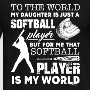 Softball Dad Shirts - Men's Premium T-Shirt