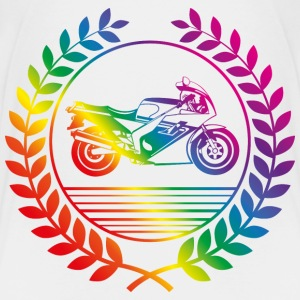 motorbike rainbow Baby & Toddler Shirts - Toddler Premium T-Shirt