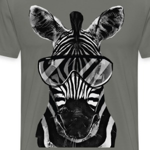 Cool Zebra T-Shirt - Men's Premium T-Shirt