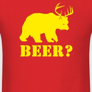 Bear Plus Deer Funny Humor - Men's T-Shirt