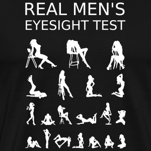 Real Mens Eyesight Test T-Shirts - Men's Premium T-Shirt
