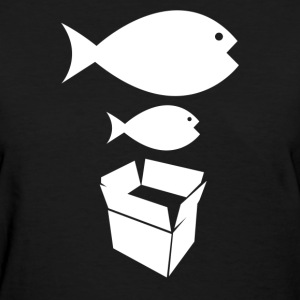 Big Fish Little Fish Cardboard Box - Women's T-Shirt