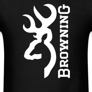 Browning Deer on Flag Us - Men's T-Shirt