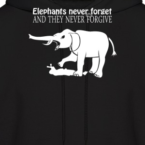 ELEPHANTS NEVER FORGET  - Men's Hoodie
