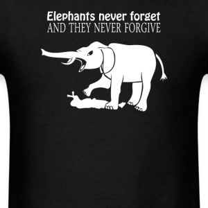 ELEPHANTS NEVER FORGET  - Men's T-Shirt