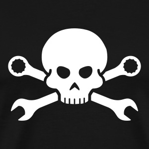 Cars Tool Pirate Skull (+ your Text) - Men's Premium T-Shirt