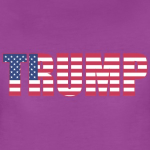 Trump - US Flag - Women's Premium T-Shirt