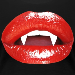 Halloween Red Lips Vampire Kiss - Women's Premium T-Shirt