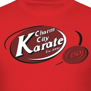 Adults Charm City Karate ellipse tee - Men's T-Shirt