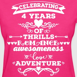 4th Anniversary Gift Cute T-Shirts - Women's T-Shirt