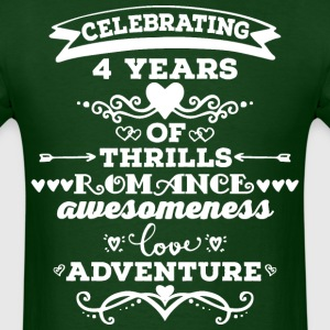 4th Anniversary Gift Cute T-Shirts - Men's T-Shirt