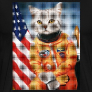Astronaut Space Cat (Mosaic Design)  - Men's Premium T-Shirt