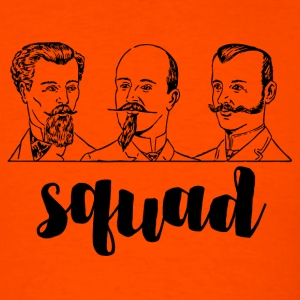 Squad Mustache Men. Vintage Hipster Style Art.  - Men's T-Shirt