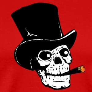 Skull Smoking Cigar T-Shirts - Men's Premium T-Shirt