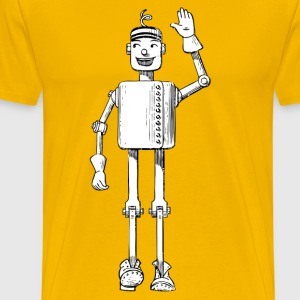 Robot Tin Man Cartoon T-Shirts - Men's Premium T-Shirt